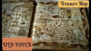 Old Treasure Map Treasure Map Old Paper Effect Enchanted Forest Coloringbook
