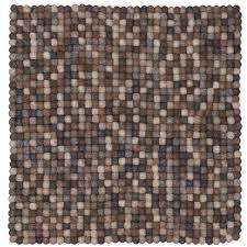 teppich 300x300 filzkugelteppich filzkugelteppich naturlinie quadratisch