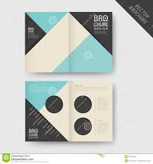 2 fold brochure template https thumbs dreamstime z modern geometric h