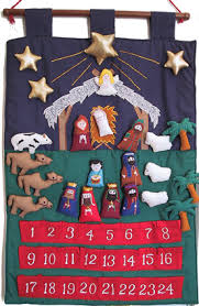 nativity advent calendar blue rectangle advent calendar