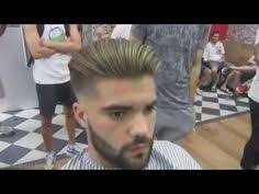 haircut tutorial shadow fade curl sponge with side part youtube