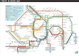 Map Japan Tokyo Railway Map Stock Photos Tokyo Railway Map Stock Images