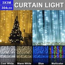 304 leds string curtain lights indoor outdoor decor waterfall