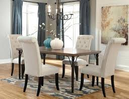 beige dining room dining chairs with nailheads silver white grey tufted upholstered