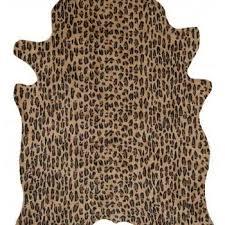 Faux Cowhide Rugs White Leopard Print Faux Cowhide Rug