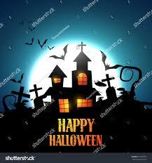 vector halloween haunted house design stock vector 116520781