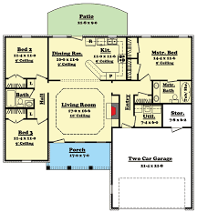 ranch floor plans with basement split bedroom ranch house plan 11703hz architectural designs