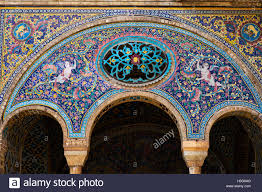 Medieval Decorations by Iran Tehran Golestan Palace World Heritage Of The Unesco Tiled