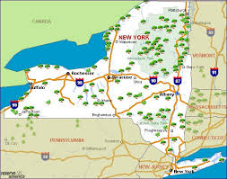 map of state of ny new york cing resources and information