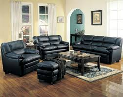 leather livingroom set black chairs set with wood table for small living room and wood