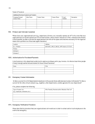 preferred vendor agreement template appendix j sample 4 continuity of operations planning worksheets page 138