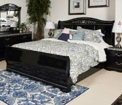 queen sleigh bed in black b104 qsleigh