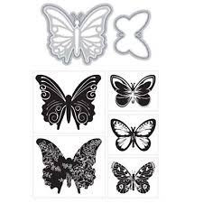Cutting Dies For Card Making - momenta art c cutting dies u0026 clear cling stamp butterflies for