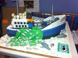 fishing trawler cake for retirement cakecentral com