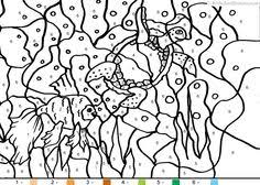 aquarium coloring page fish color by number coloring pages 13 funnycrafts happy