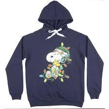 snoopy christmas sweatshirt peanuts women s snoopy and woodstock christmas fleece hoodie