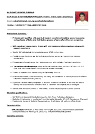 sample resume for sap abap 1 year of experience resume for your