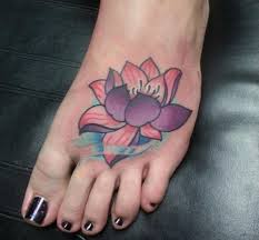 lotus flower foot tattoo i fucking love tattoos