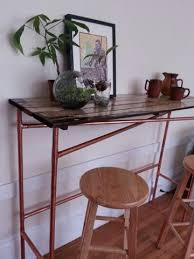 easy copper pipe and reclaimed wood table wood table pipes and