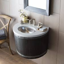 bordeaux wine barrel wall mounted bathroom vanity base native trails