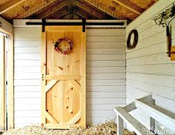 Installing A Sliding Barn Door How And Why To Install A Sliding Barn Door In Your Chicken Coop