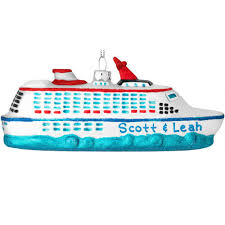 personalized cruise ship with glitter glass ornament bronner u0027s