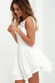 Classy Wedding Night Lingerie Flirting With Danger Cutout Ivory Dress Trendy