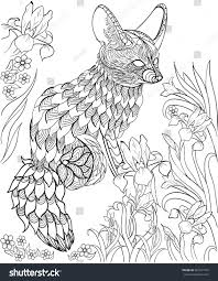 wildlife coloring book hand drawn ink pattern coloring book stock vector 387291739