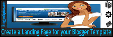 landing page templates for blogger create a custom landing page for your blogger site bloggerspice