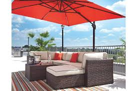 Patio Table And Umbrella Oakengrove Patio Umbrella Furniture Homestore