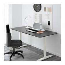 Ikea Desk Stand Bekant Desk Sit Stand Black Brown White Ikea