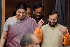 Portfolio Of Cabinet Ministers Modi Refreshes Union Cabinet Javadekar Replaces Irani As Hrd Minister