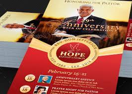 pastor anniversary events rack card template inspiks market
