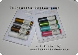silhouette sketch pens a tutorial and discount love stitched