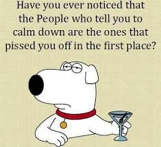 Calm Down Meme - people who tell you to calm down funny ecard http jokideo