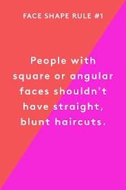 haircut face shape beauty rules