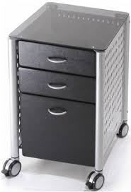 Black Desk With File Drawer Innovex Skg02g29 Leda Desk Collection Filing Cabinet Black Glass