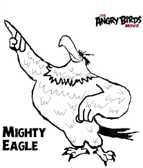 angry birds movie coloring pages mighty eagle