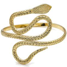 cuff bracelet gold plated images Egyptian costume jewellery style ladies wide gold plated snake jpg