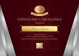 luxury certificate template with elegant silver border frame di