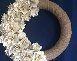 paper wreath etsy