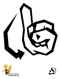 printable sign language alphabet graffiti free asl