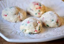 swirled holiday snowball cookies baking bites