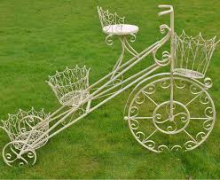 scrolled metal bike planter garden sculptures ornaments