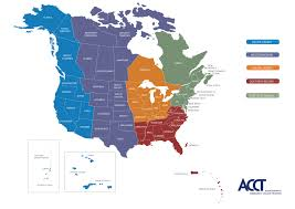 Ohio Colleges Map by Map Of Acct Regions Acct