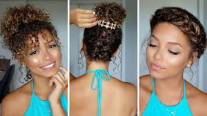 3 summer hairstyles for curly hair ashley bloomfield youtube