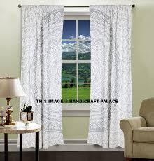 Elephant Curtains Uk Indian Elephant Mandala Bedroom Window Curtains Tapestry Drapes