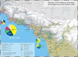 map of abkhazia map black sea