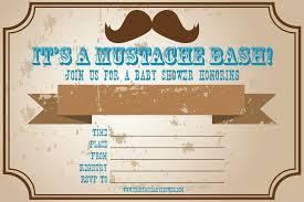mustache baby shower invitations baby shower invitation templates free sle mustache