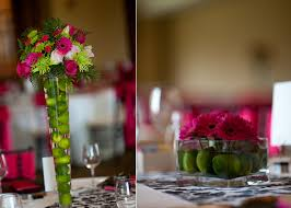 pink and grey wedding reception love the use of lemons